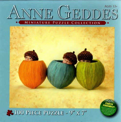 Anne Geddes Miniature Puzzle Collection: Heartfelt Series #7700-2 Acorn Babies
