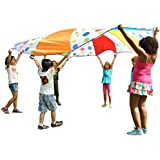 Children's Wonder Parachute 10' Feet Polka Dot Design: 6 Colors