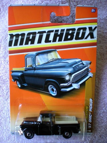 Chevy Truck Matchbox 2011 Construction 38 Of 100 57 Gmc Pickup Black