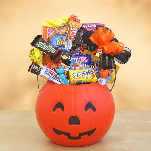 Spooky Pail of Treats for Halloween Gift Basket