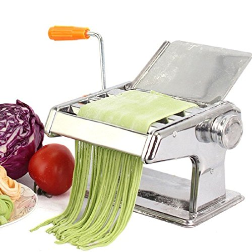 Ochi&Moji Stainless Steel Vegetable Pasta Maker Machine 3 Rollers Manual Multi-Functional (Plastic Shell Shaped Serving Dish compare prices)
