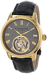 Stuhrling Original Men's 536.333X2 Tourbillon Limited Edition Meteorite Mechanical Gold-Tone Watch