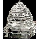 Divya Shakti 100 % Pure Sphatik Shree Yantra AAA QUALITY (50 Grams) Sphatik Shree Yantram ( Religious Item )
