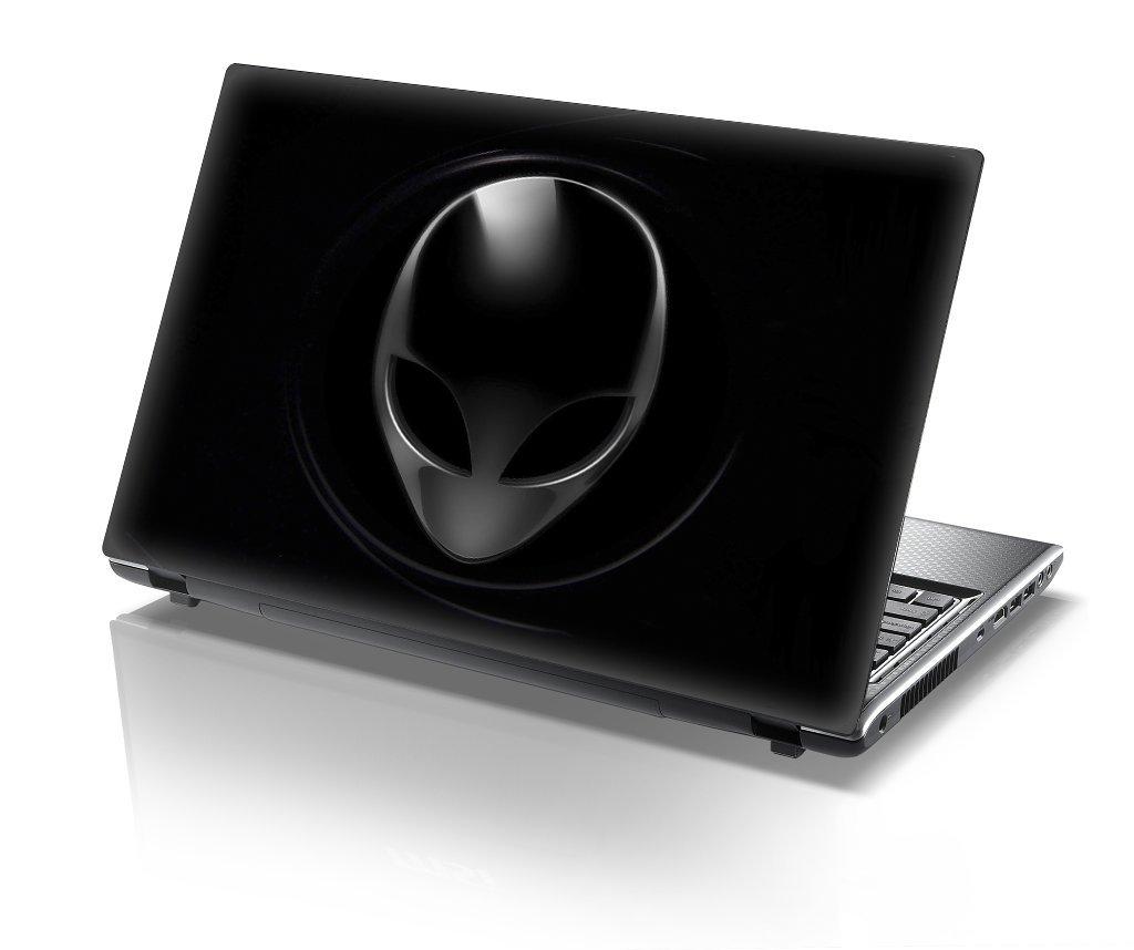 Black Alien Head Protective Laptop Skin, 15'6 Inch