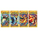 Pokemon Flashfire XY Trading Card Game Booster Cards - Four (4) Packs