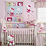Bedtime Originals Hello Kitty and Puppy Diaper Stacker – Pink