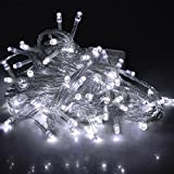 FIDOOVIVIA 30M/50M 300/400 LEDs Waterproof String Fairy Lights For Indoor&Outdoor Wedding Christmas Party Room With UK Plug 8 Operation Modes-White