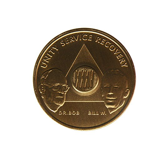 35 Year Bill & Bob Founders Edition Bronze AA (Alcoholics Anonymous) Birthday - Sober / Sobriety / Anniversary / Recovery / Medallion / Coin / Chip