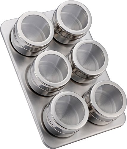 Stainless steel magnetic containers multipurpose spice tin for Perfect kitchen stainless