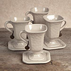 Versailles Cups & Saucers (Set-4)