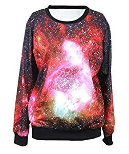 LoveLiness Womens 3D Digital Print Pullover Sweatshirt Sweaters