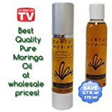 Moringa Seed Oil 170ml Combo Pack **Special $17.99** 100% Pure All Natural Moringa Seed Oil in Luxury Pump Bottle with Refill