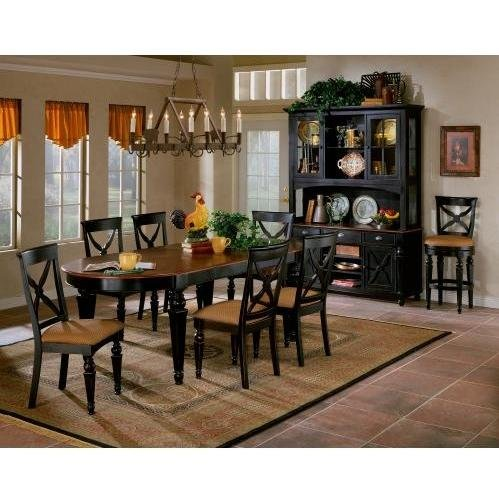 Northern Heights 7 Pc Dining Set (Black Honey) (See Description)