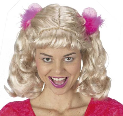 Ladies Cheerleader Costume Wig