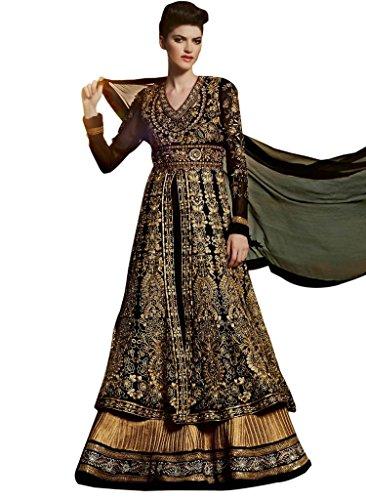 Stylelok Black Georgette Anarkali Suits Sl 71294