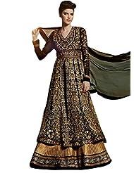 Stylelok Black Georgette Anarkali Suit With Matching Dupatta Sl 1712940