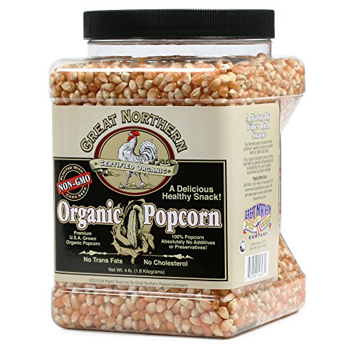 Cheapest Prices! Great Northern Popcorn Organic Yellow Gourmet Popcorn All Natural, 4 Pounds