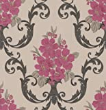 Elixir Dauphin Wallpaper Colour: Taupe / Raspberry