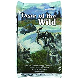 Taste of the Wild Grain-Free Pacific Stream Dry Dog Food for Puppy, 30-Pound Bag