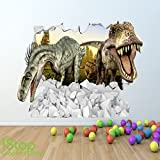 1Stop Graphics - Shop DINOSAUR FULL COLOUR 3D WALL STICKER - BOYS GIRLS T REX GRAPHIC C400 - Size: Large