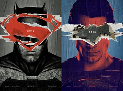 US版ポスター バットマンvsスーパーマン Batman vs Superman 69×101cm 両面印刷 D/S 2枚組 #1 [並行輸入品]