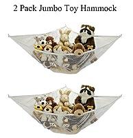 *2 Pack* Jumbo Toy Hammock Net Organize Stuffed Animals By Handy Laundry