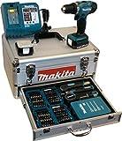 Makita BDF343RHEX5 Akku-Bohrschrauber im Alukoffer inkl. 96-tlg. Zubehörset, 2 Akkus und Ladegerät