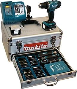 makita bdf343rhex5 avvitatore a batteria con valigetta e set di accessori 96 pz 2 batterie e. Black Bedroom Furniture Sets. Home Design Ideas