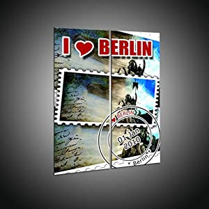 Imprime pas cher à partir de motifs de Berlin sur toile 2 parties in 50x65 cm