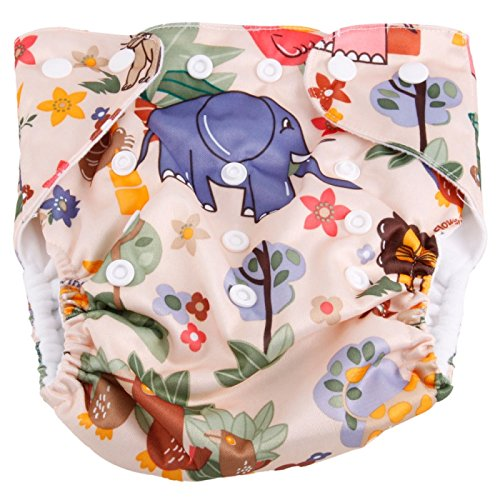 Cloth Diapers ,Nappies - Haqile Lion And Elephant Pattern Tpu Waterproof And Side-Leakage Preventing Cloth Diaper
