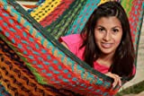 LARGE THICK CORD Hammock follows the traditional Mayan weaving but in a thick cord which makes it extra durable and heavy weight resistant. ItÕs a big hammock, great to share with family or friends.Up to 880 pounds resistance. Recommended for...