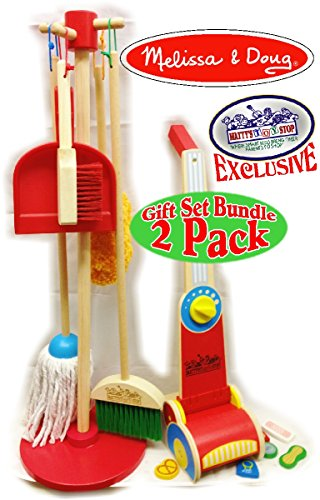 Melissa-Doug-Wooden-Lets-Play-House-Dust-Sweep-Mop-Vacuum-Up-Cleaning-Playsets-Exclusive-Mattys-Toy-Stop-Deluxe-Gift-Set-Bundle-2-Pack