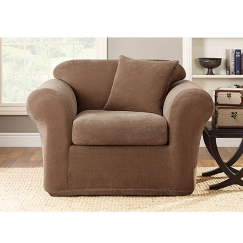 Sure-Fit Stretch Metro 2-Piece Club Chair Slipcover