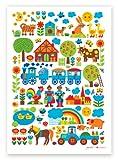 byGraziela Kinderzimmer-Poster: Bauernhof 50 x 70 cm Retro