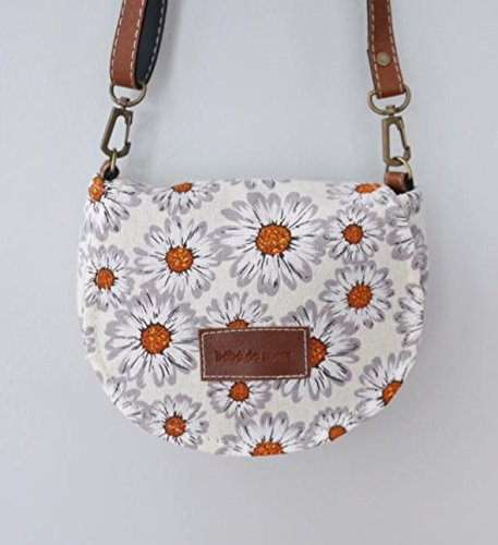 Light Flower Bebe de Mar Retro Mini Shoulder Bag for Girl ()