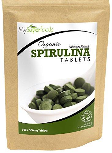 Bio Spirulina-Tabletten (300 x 500mg) | Höchste Qualität | Garantiert organisch durch die Soil Association | Von MySuperfoods
