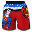 Superman Patriotic Toddler Kids Swim Trunks
