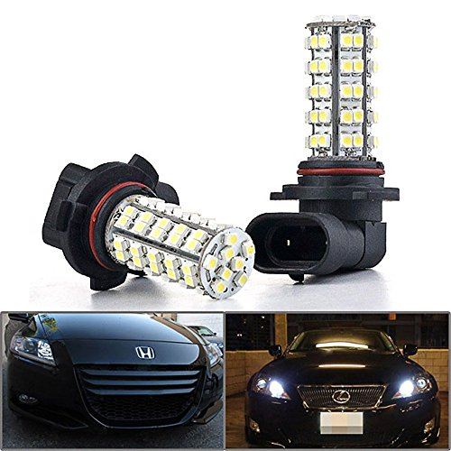 Mictuning 9006 Led Bulbs 68-Smd Super White Super Bright Drl Fog Lights (A Pair)