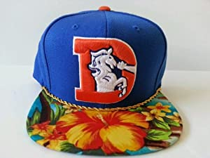 Mitchell and Ness NFL Denver Broncos Custom Snapback Cap, Hat: Flowers by Mitchell & Ness