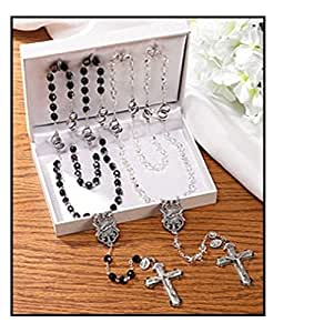 Wedding Gift List Amazon : Amazon.com - Wedding Rosaries Gift Set 8 mm Jet and Crystal AB ...