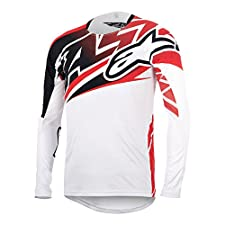 Alpinestars Boy's Sight Long Sleeve Jersey Large White/Red/Black