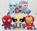 5pcs/set 11cm The Avengers Super Heroes Plush Toys Thor Spider-man Captain America Iron Man Plush Dolls boneka pahlawan anak