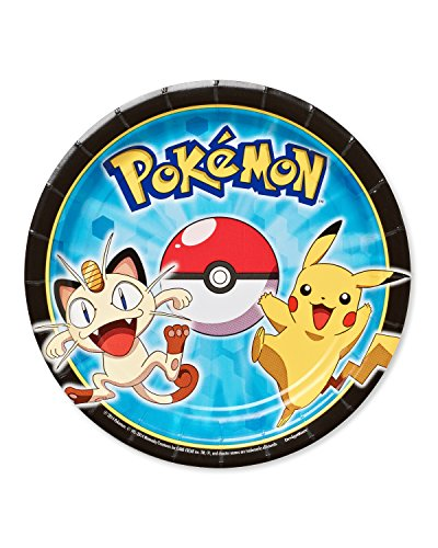 "American Greetings Pokemon Round Plate (8 Count), 7"" - 1"