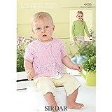Sirdar Snuggly Baby Bamboo DK Cardigans Knitting Pattern 4435