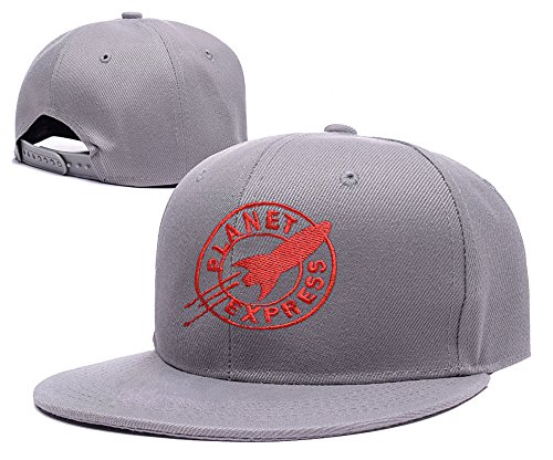 ZZZB Futurama Planet Express Logo Adjustable Snapback Embroidery Hats Caps - Red