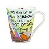 The Good Life Fine China at the End of All Your Rainbows Mug, Multi-Colour