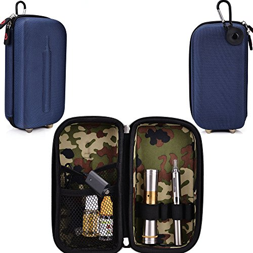 Travel Vape Case-Universal Design In A Navy Blue Compatible With The Lg-1000 Disposable E-Cigar