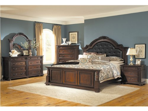 Silas 4 Pc Eastern King Bedroom Set By Homelegance In Cherry front-1071826