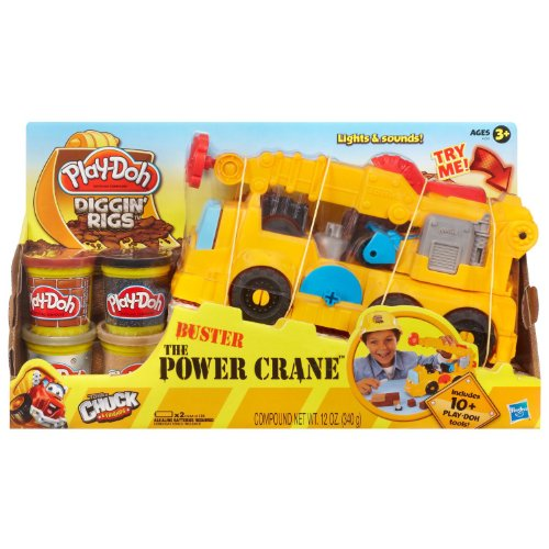 Play-Doh Diggin' Rigs Tonka Chuck & Friends Playset - Buster The Power Crane(Age: 3 years and up)