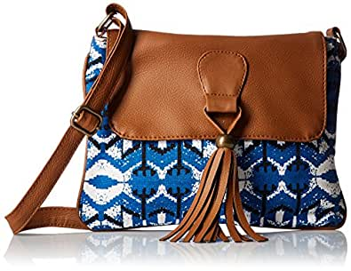 Kanvas Katha Women's Sling Bag (Blue) (KKSNWV009)
